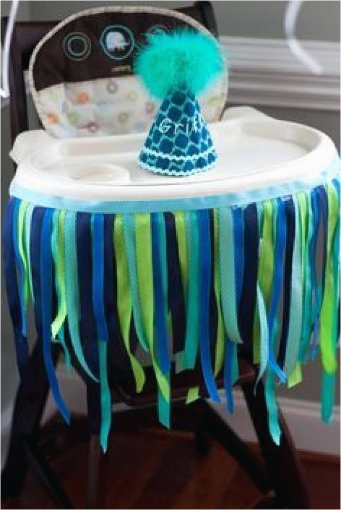 High Chair Decorations 1st Birthday Boy Highchair