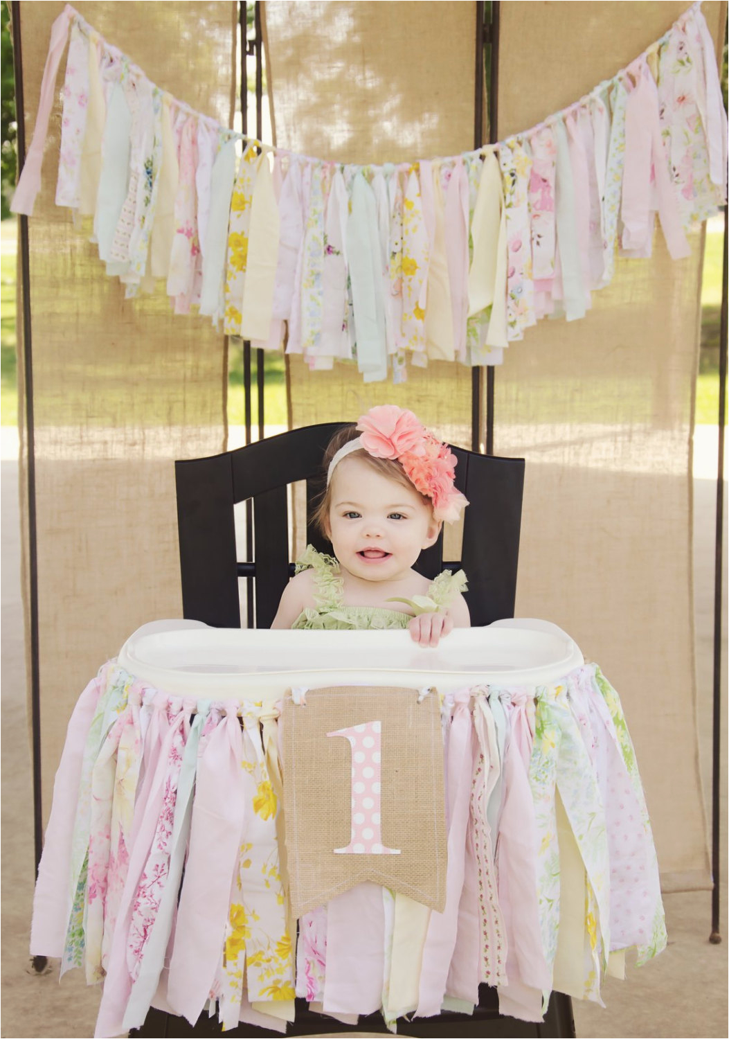 High Chair Decorations For 1st Birthday Girls Banner First Party Supplies