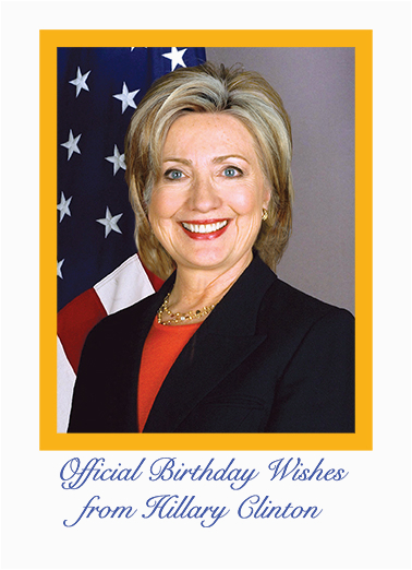 official hillary birthday