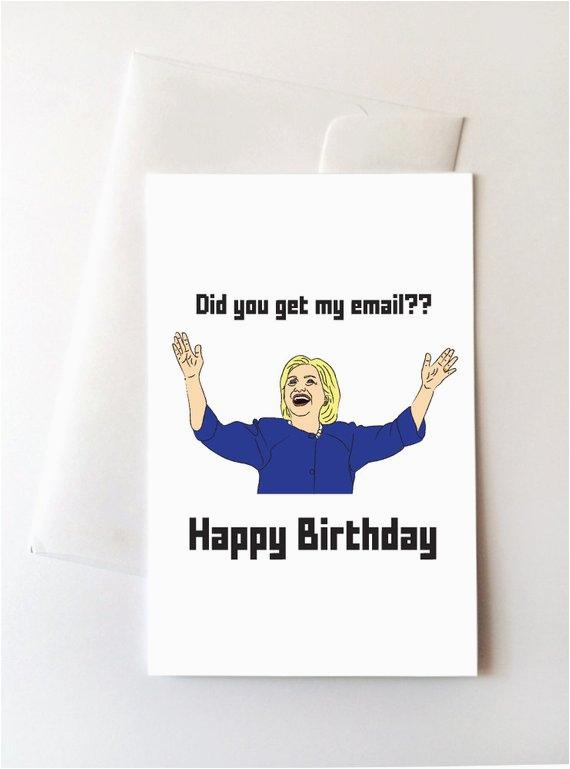 hillary clinton happy birthday card ref market