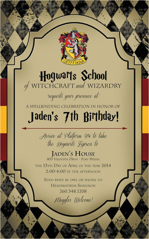 Hogwarts Birthday Invitation Template 25 Best Ideas About Harry Potter Invitations On Pinterest