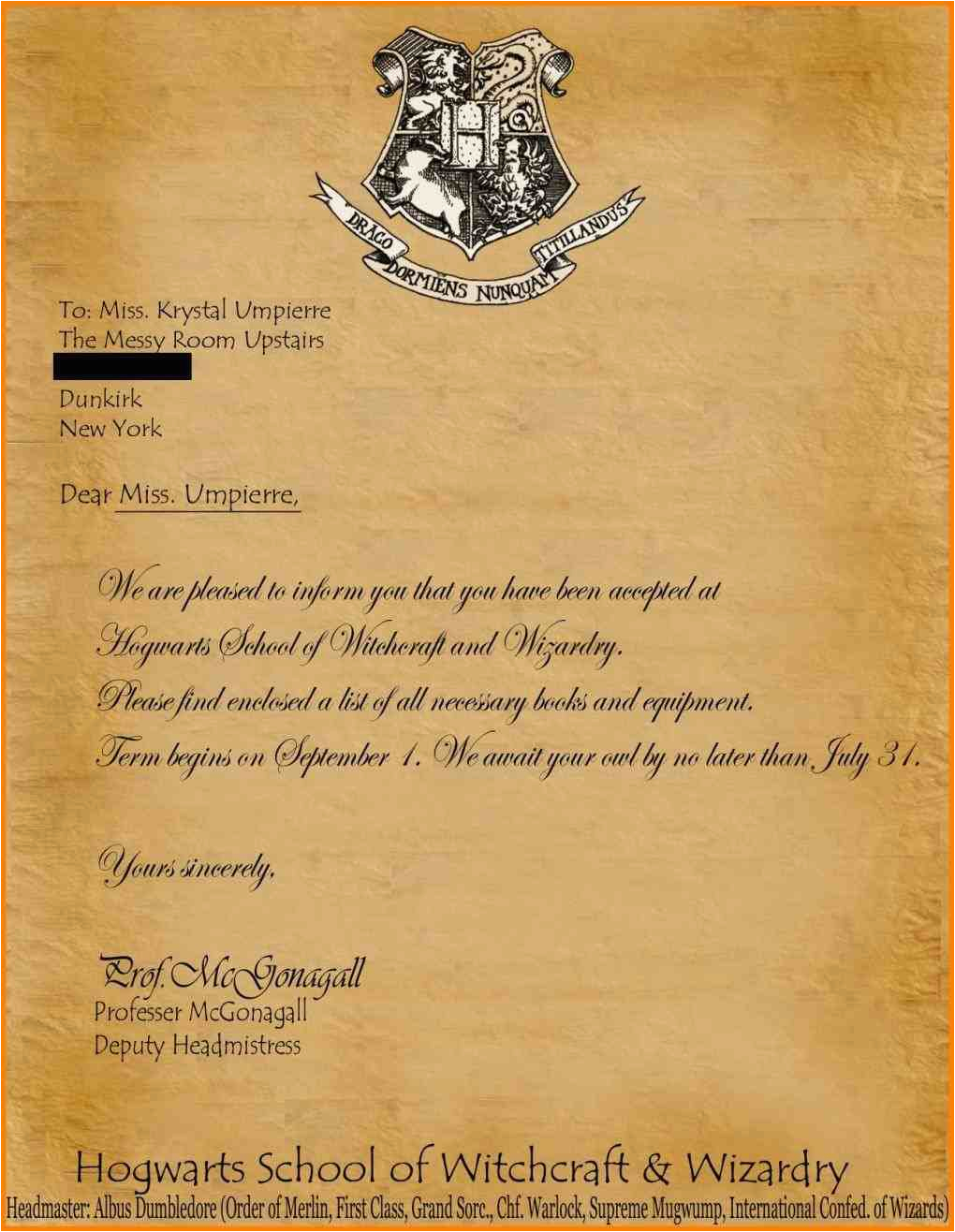 Hogwarts Birthday Invitation Template Harry Potter Envelope Mayamokacomm