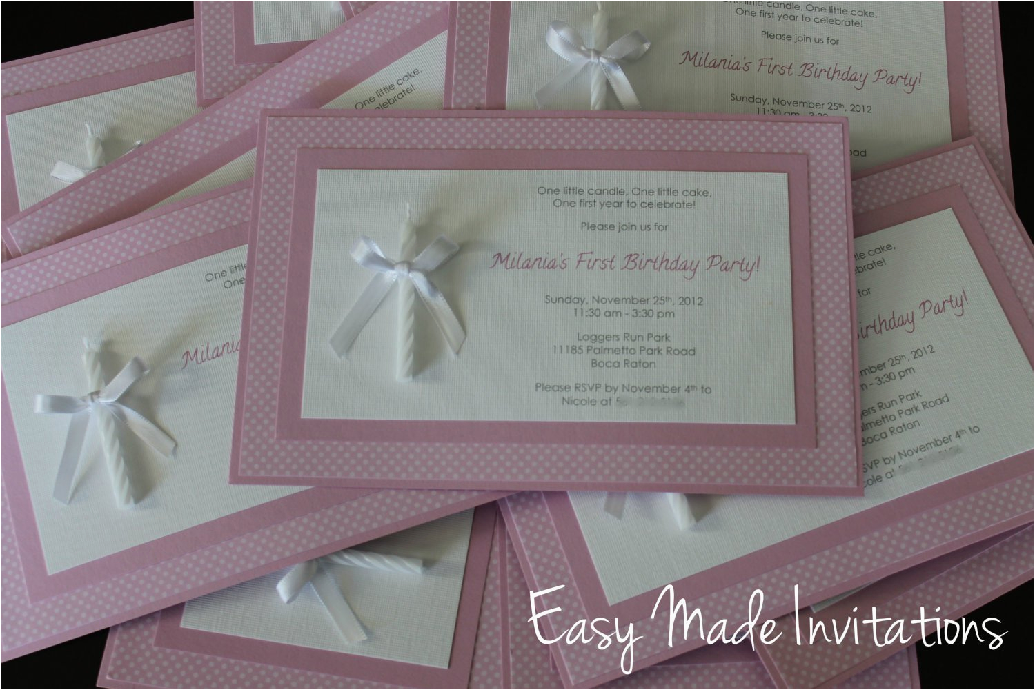 Home Made Birthday Invitations Homemade 1st Best Party Ideas