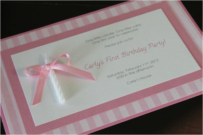 Homemade 1st Birthday Invitations