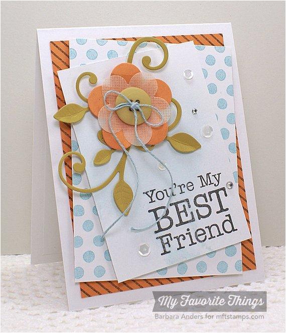 you 39 re my best friend handmade card