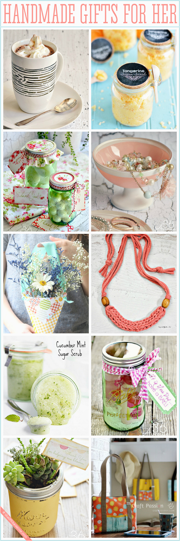 Homemade Birthday Gift Ideas for Her Handmade Gifts for Women the 36th Avenue