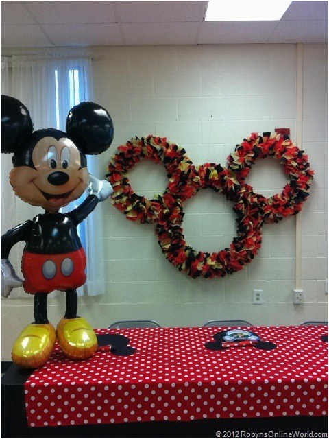 Homemade Mickey Mouse Birthday Decorations Diy Mickey Mouse And
