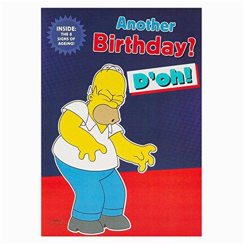 Homer Simpson Birthday Cards Hallmark the Simpsons Birthday Card for Him 39 8 Signs Of