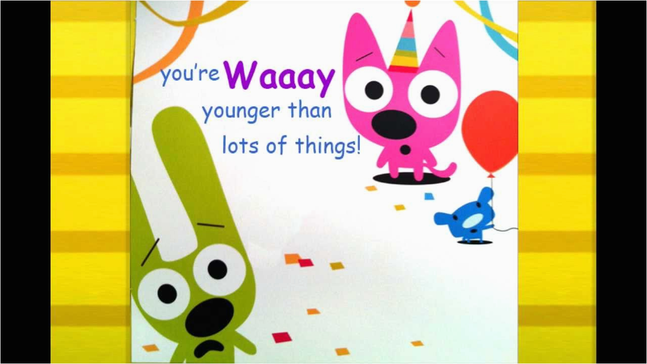 Hoops And Yoyo Birthday Card You 39 Re Not Old Youtube