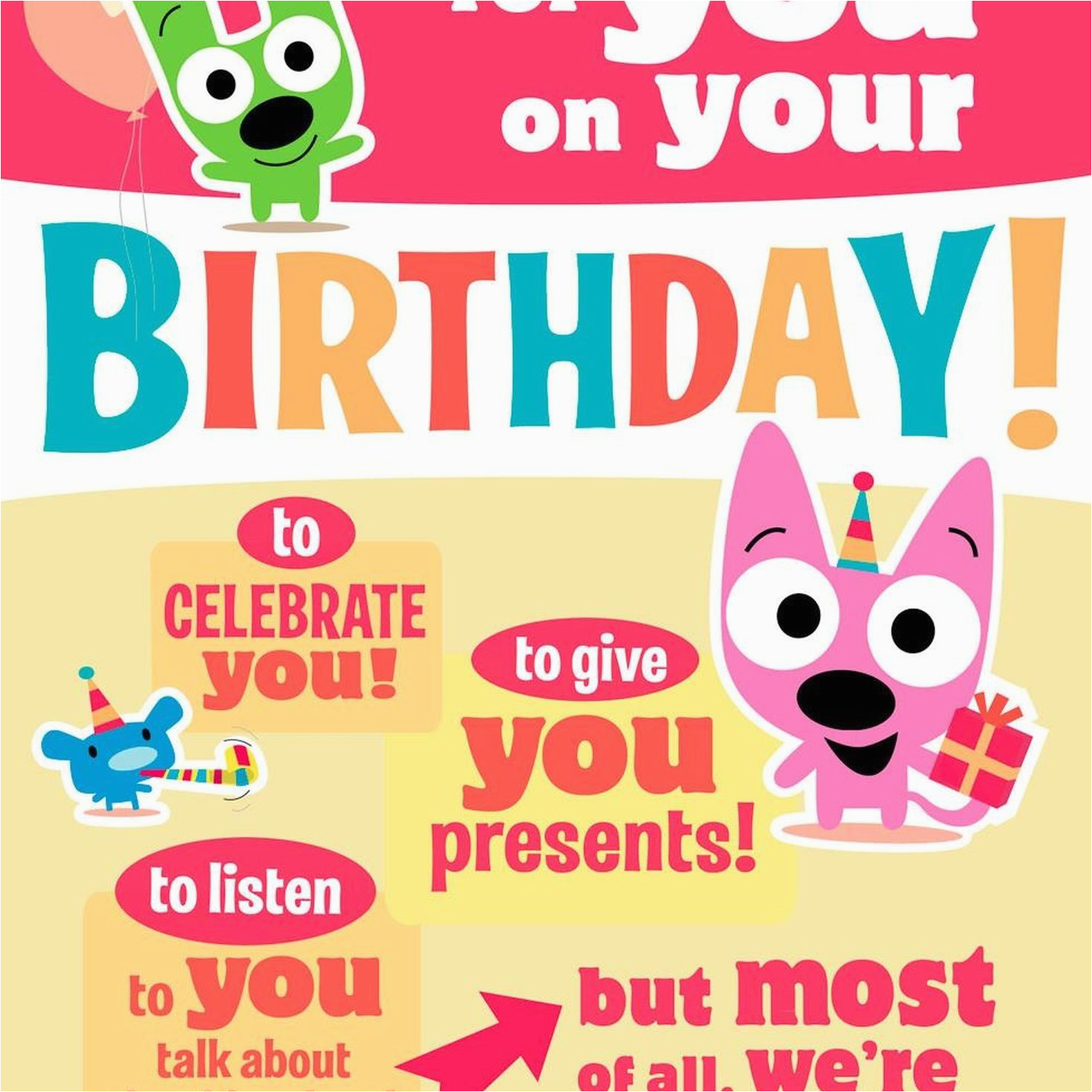 Hoops And Yoyo Birthday Card Cake Sound With Motion