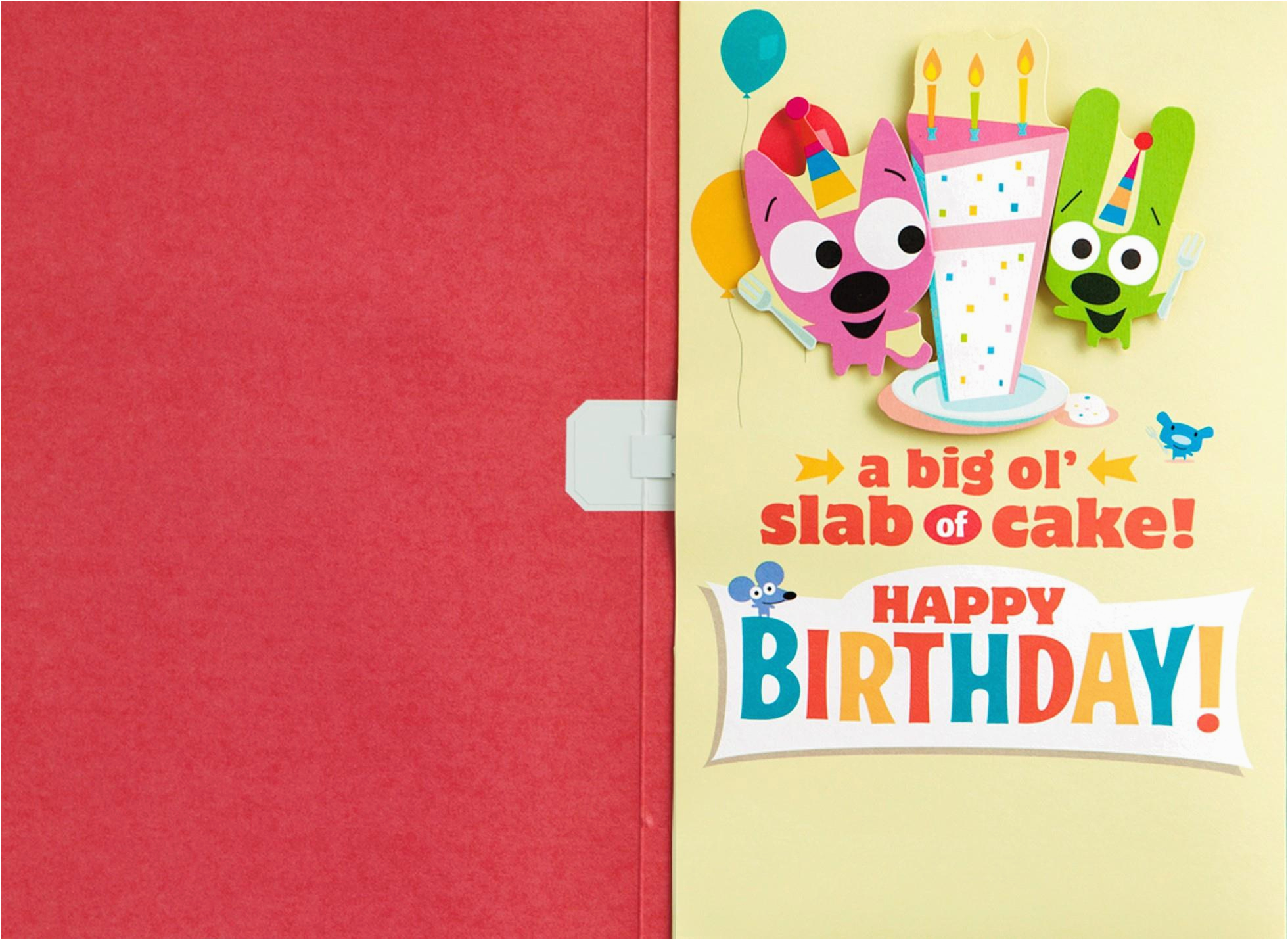 Hoops And Yoyo Birthday Cards With Sound Cake Card Motion
