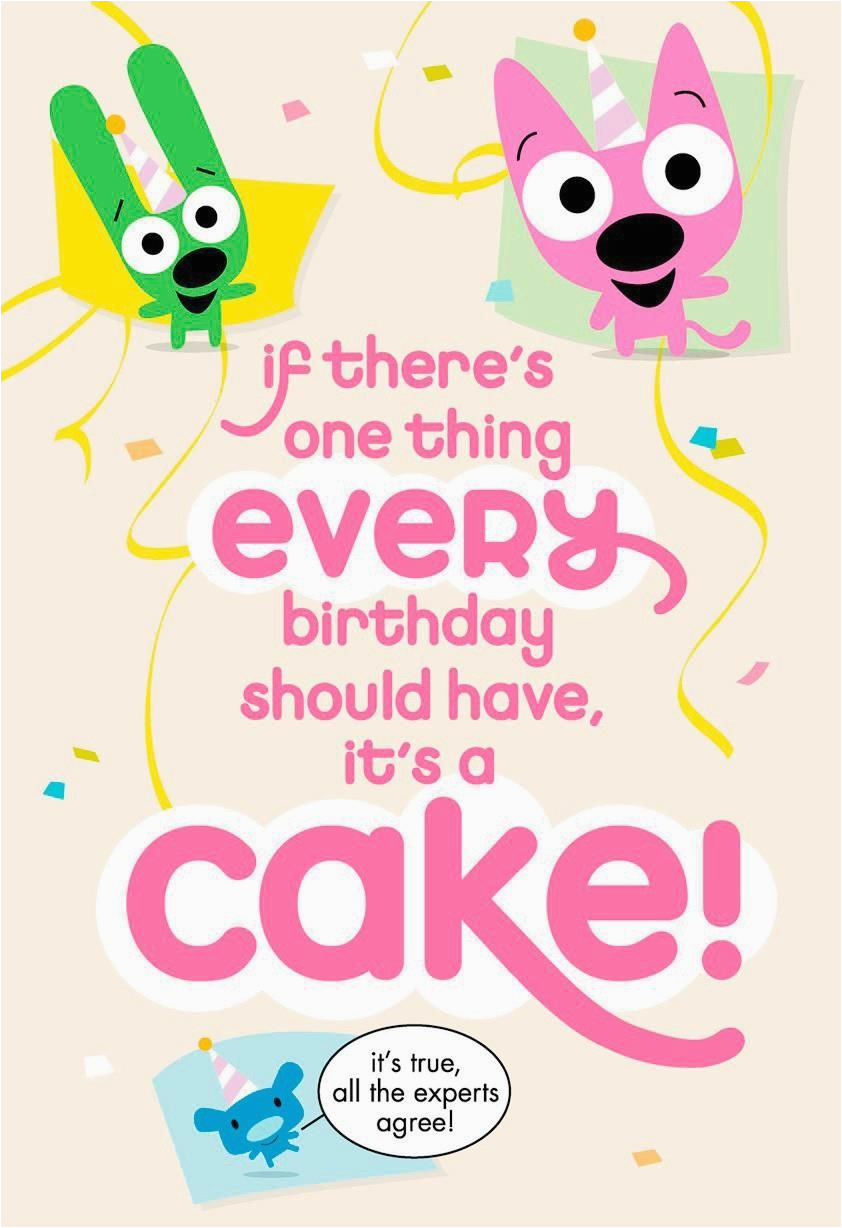 hoopsandyoyo cake surprise funny birthday sound card 699snl4521