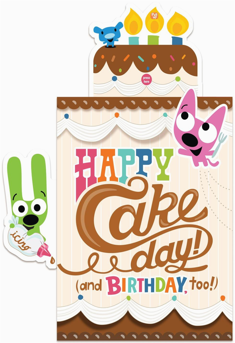 Hoops And Yoyo Birthday Cards With Sound Pop Up Cake Card Greeting Hallmark