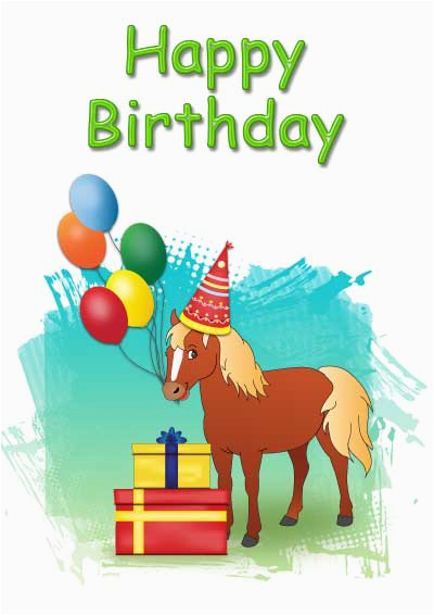 post free printable horse birthday cards 225724