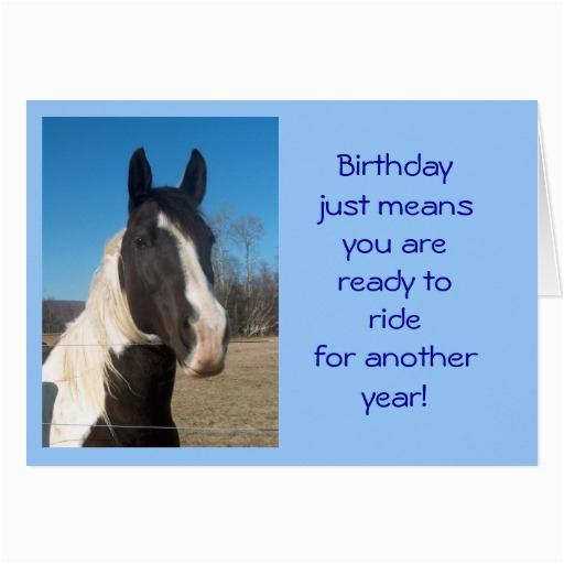 horse birthday card 137117165480504369