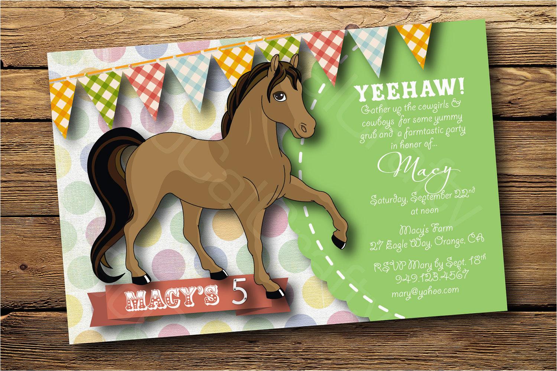 horse party invitations