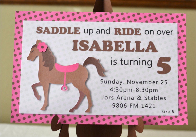 pony birthday invitations horse birthday