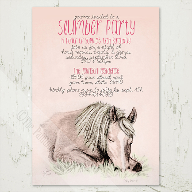 Horse Themed Birthday Cards Equestrian Party Invitations For Spring Horses Heels