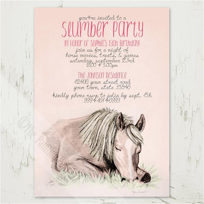 Horse themed Birthday Party Invitations Equestrian Party Invitations for Spring Horses Heels