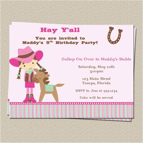 Horse themed Birthday Party Invitations Free Printable Horse Birthday Party Invitations Free