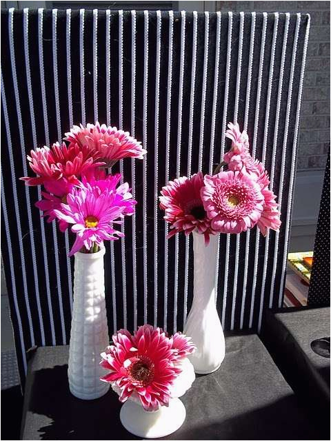 Hot Pink And Black Birthday Decorations Party Ideas Photo 5 Of