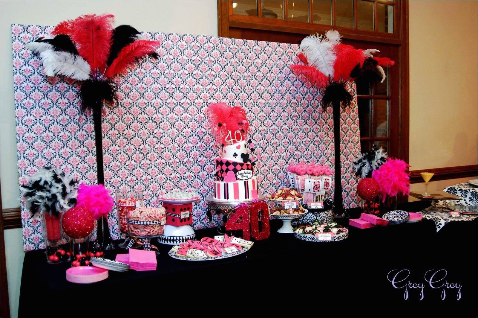 pink and black party decorations 1 desktop wallpaper
