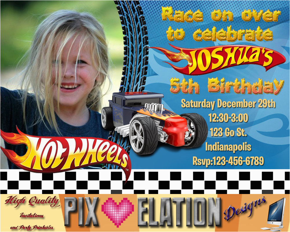 Hot Wheel Birthday Invitations Hot Wheels Birthday Invitations Hot Wheels Birthday