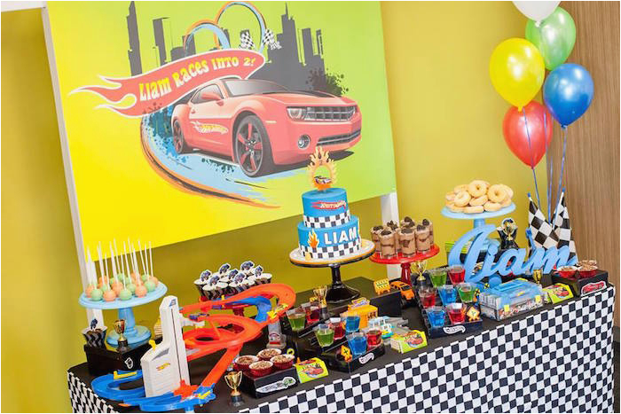 hot wheels car birthday party