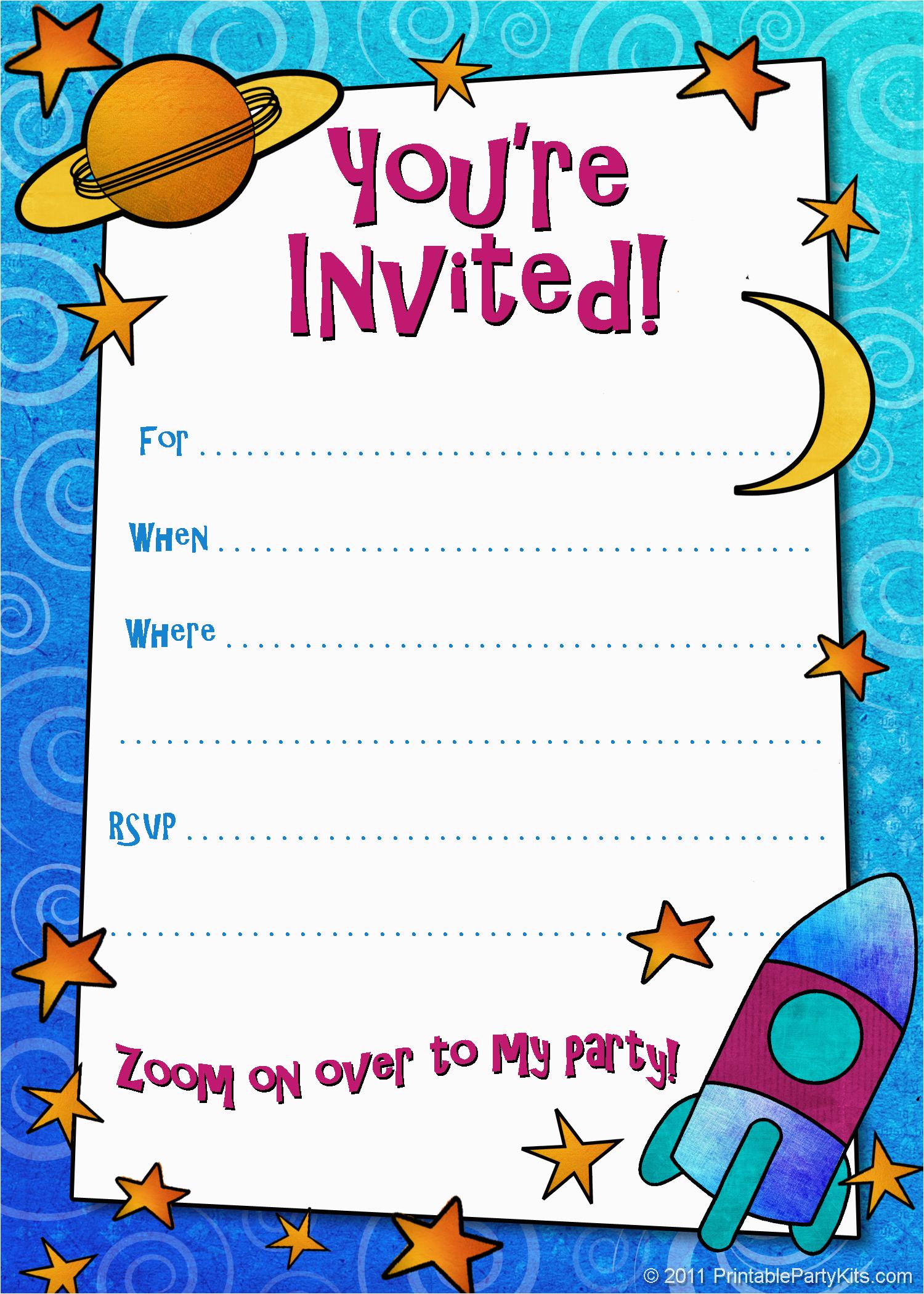 make a birthday invitation online