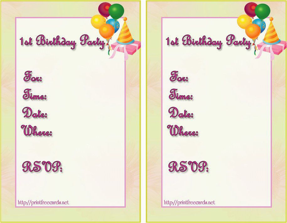 How To Create Birthday Invitation Card For Free Templates