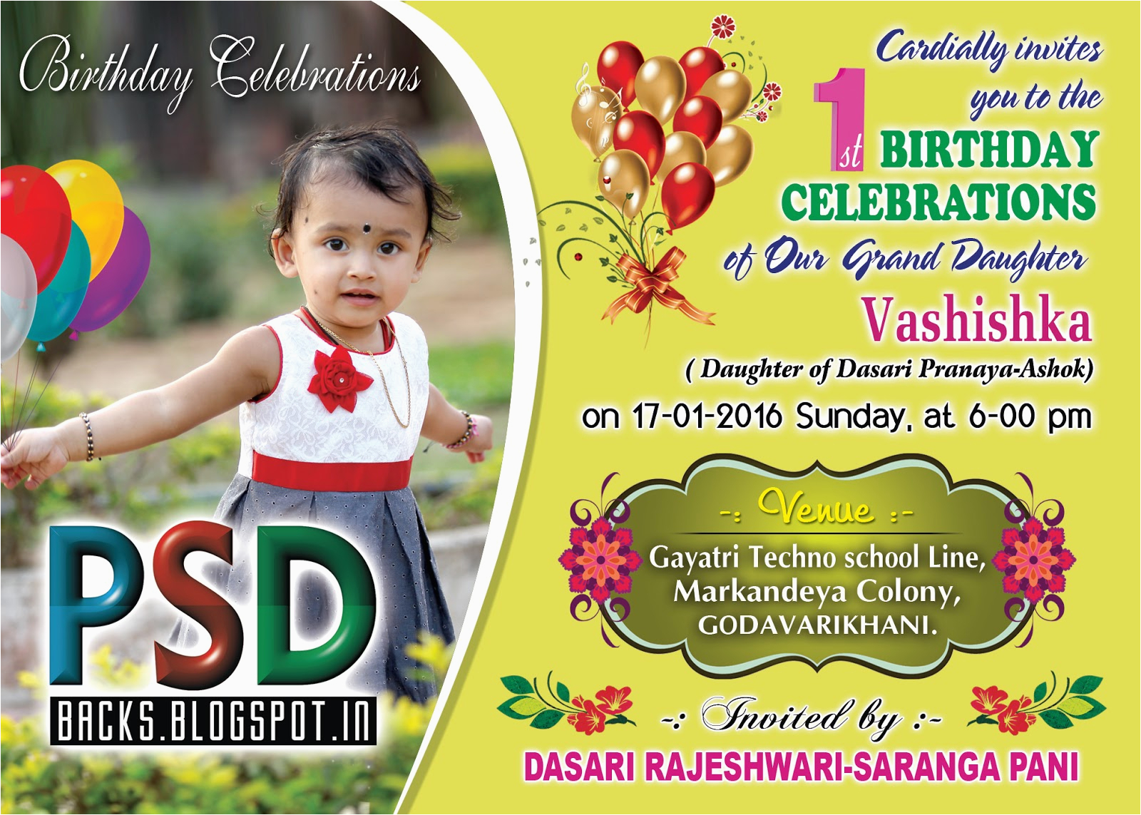 birthday party invitation psd templates free downloads