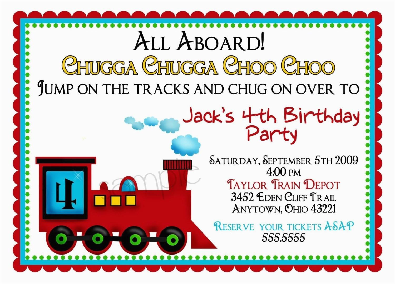 birthday invites how to make train birthday party