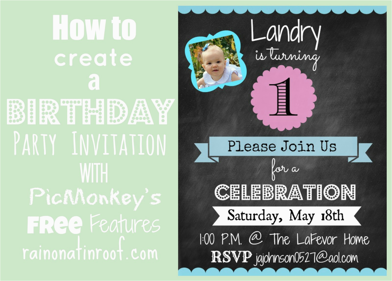 How To Create Birthday Invitations Online Free An Invitation In Picmonkey
