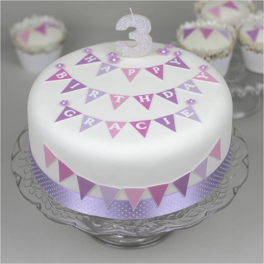 birthday bunting cake decorating kit