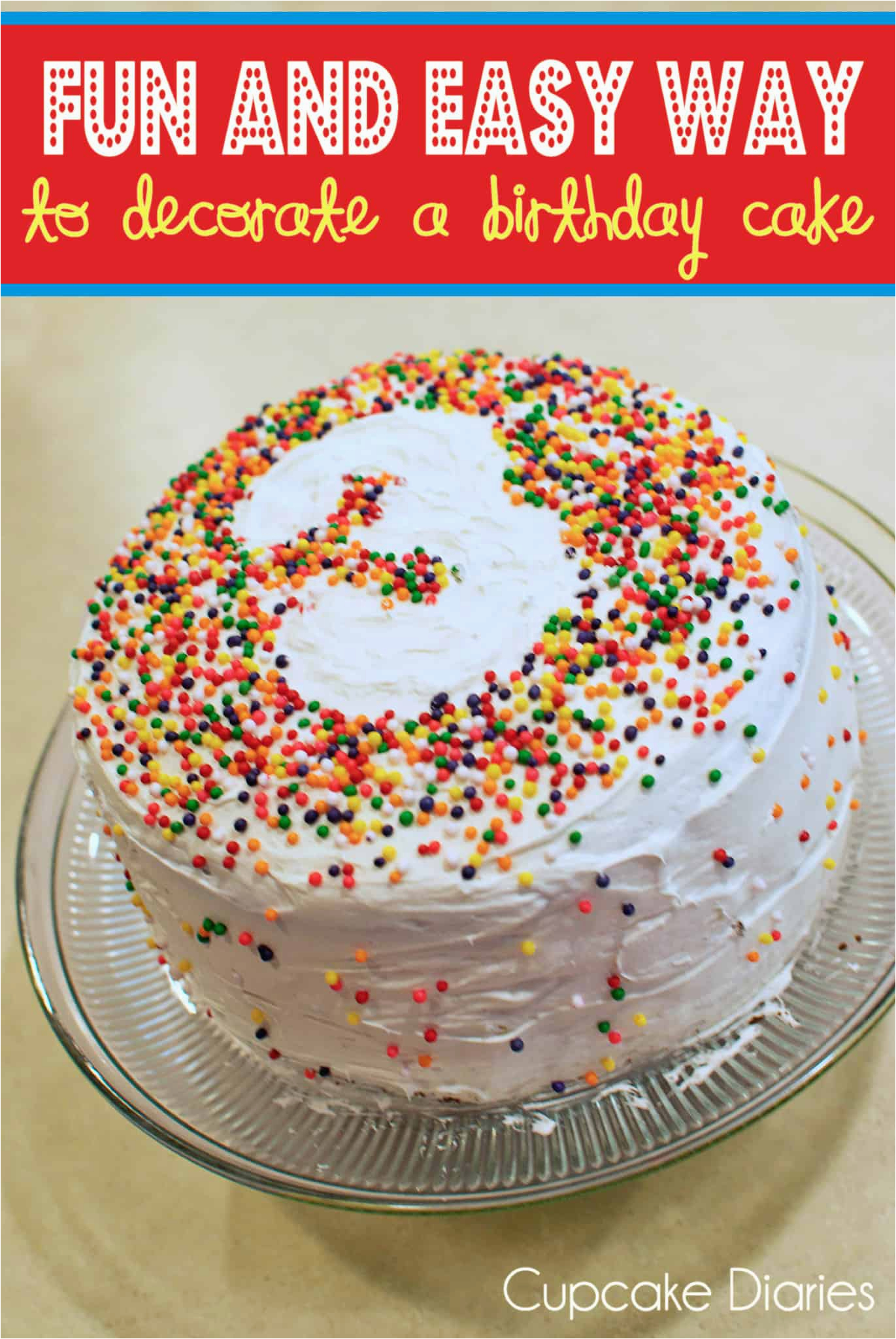fun and easy way to decorate birthday