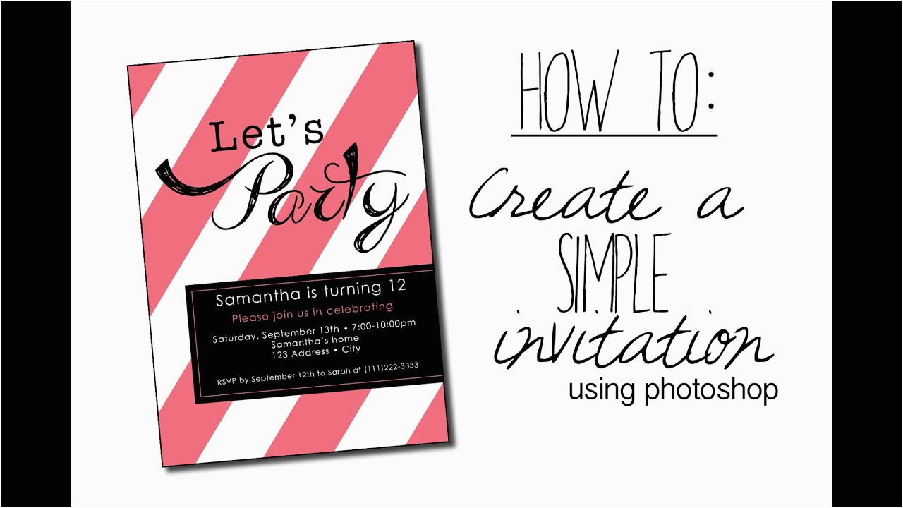 How To Design Birthday Invitations In Photoshop Create A Simple Invitation With Youtube