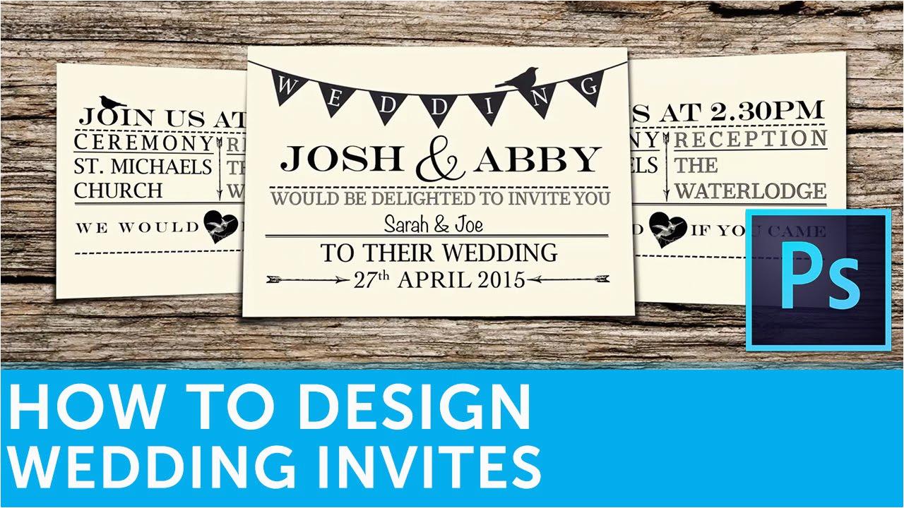 How To Design Birthday Invitations In Photoshop A Wedding Invitation Adobe