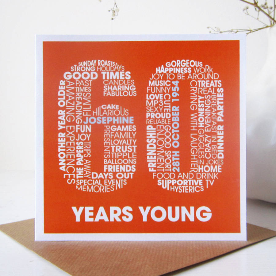 How To Do Birthday Card Personalised 60th By Mrs L Cards