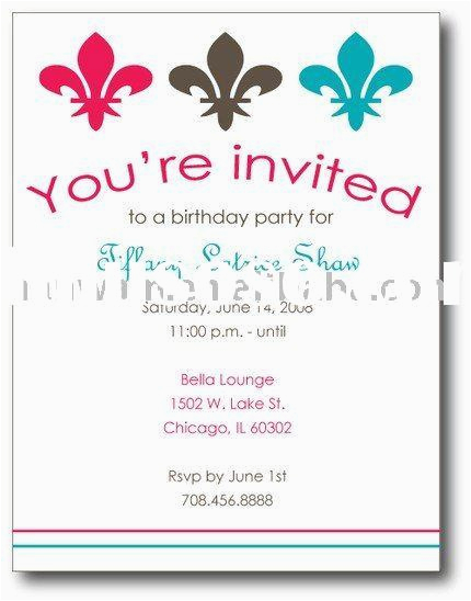 How To Invite For Birthday Party Invites Awesome Invitations Wording