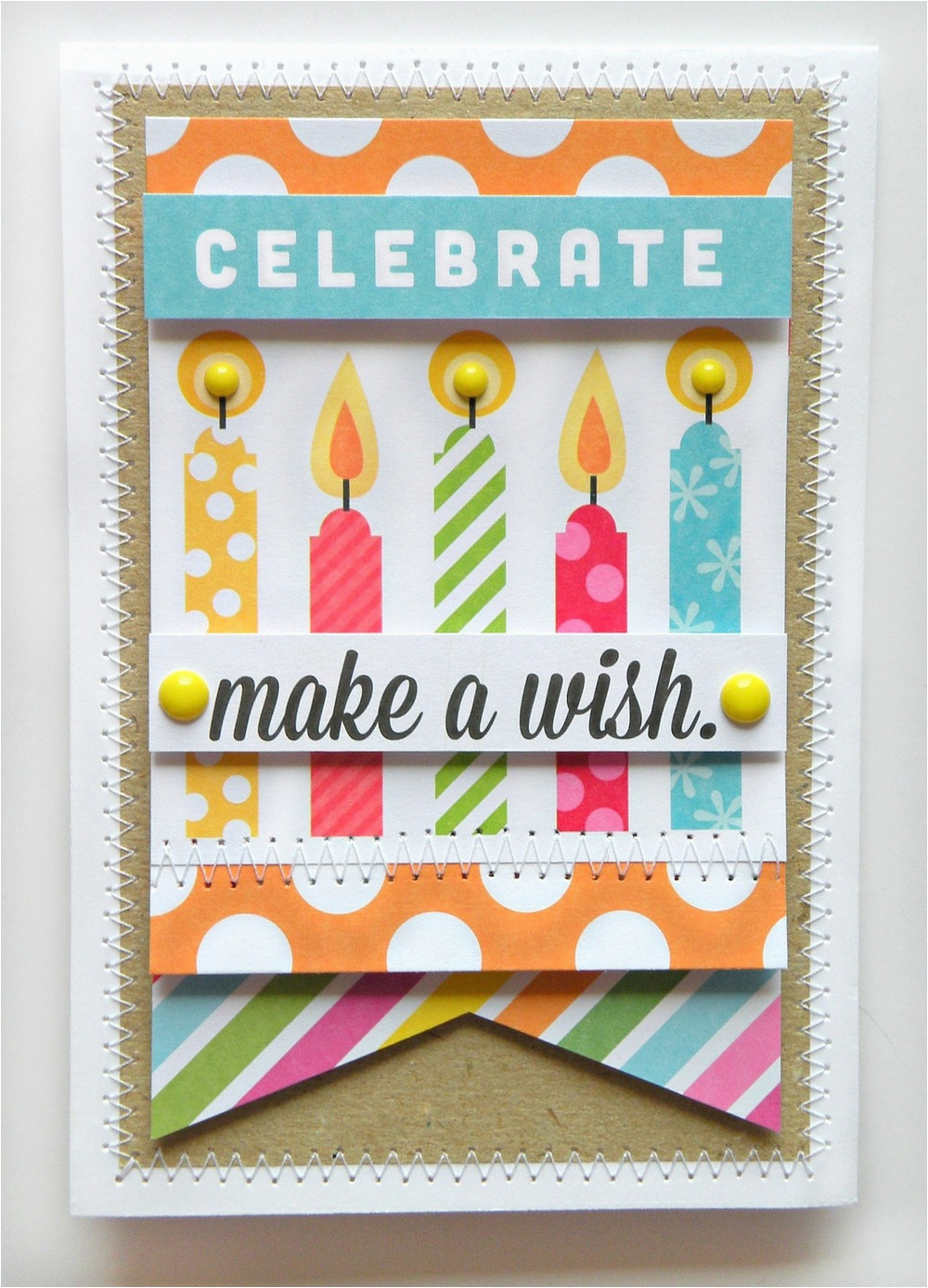 pocket pages birthday card