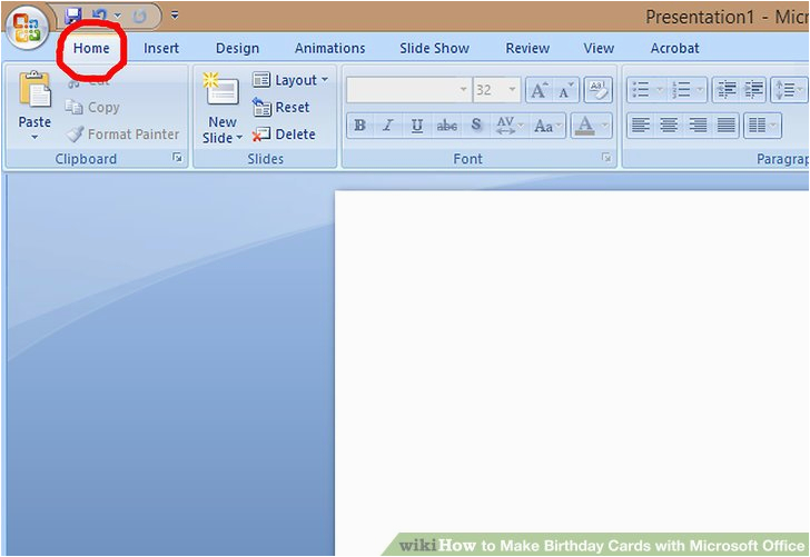 how to make birthday cards with microsoft office with
