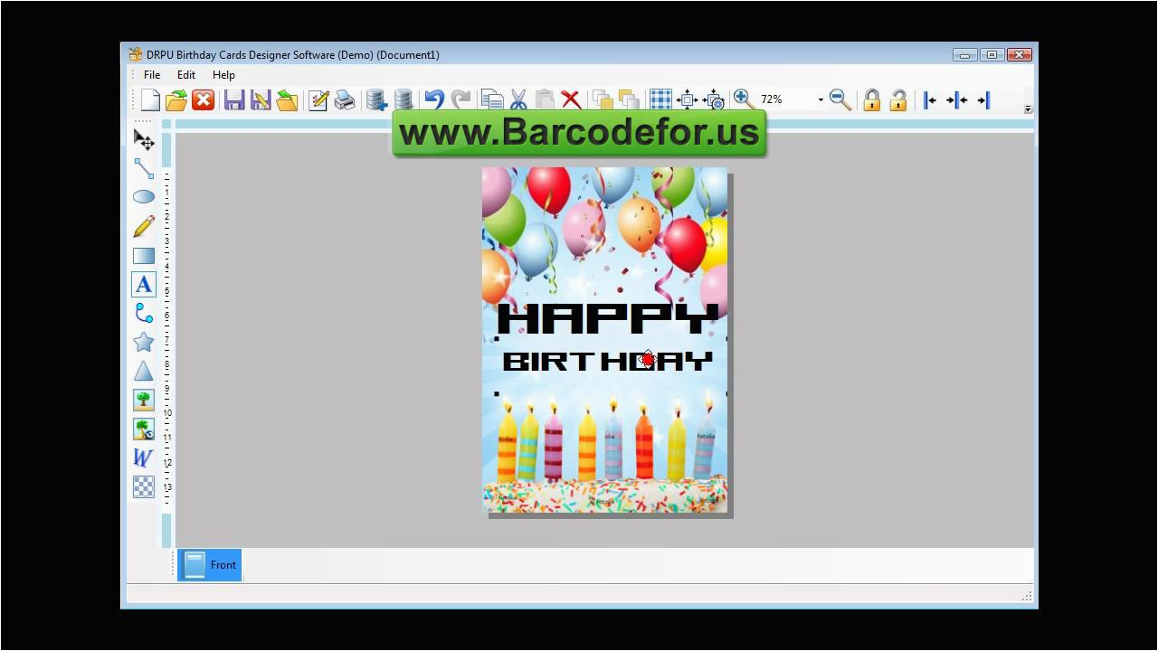 steps to create birthday cards using drpu birthday card