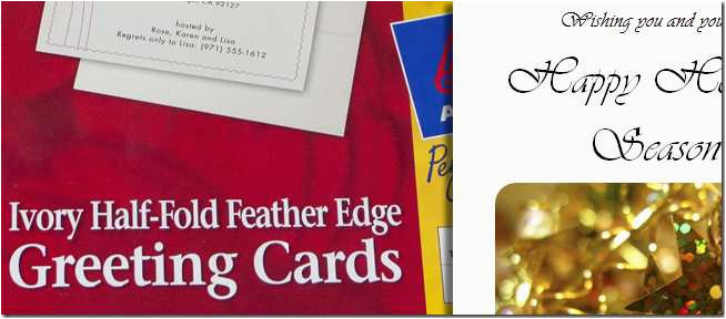 design and print your own christmas cards in ms word part 1