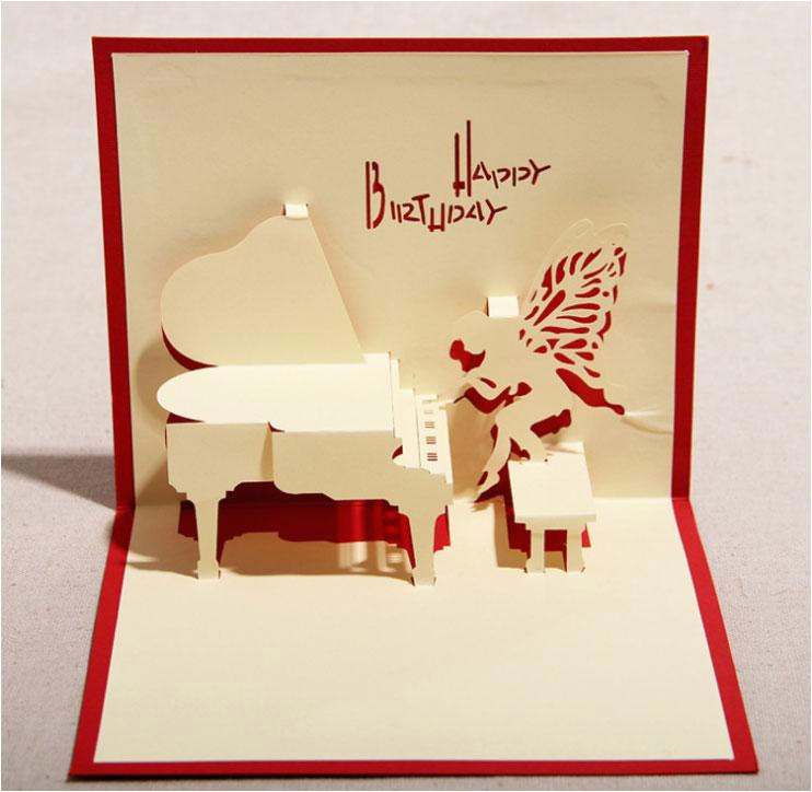 130mm 160mm piano greeting cards fashion greeting cards