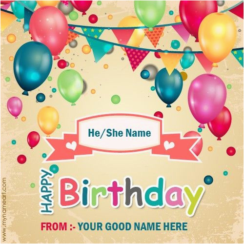 create birthday card with name online free happy