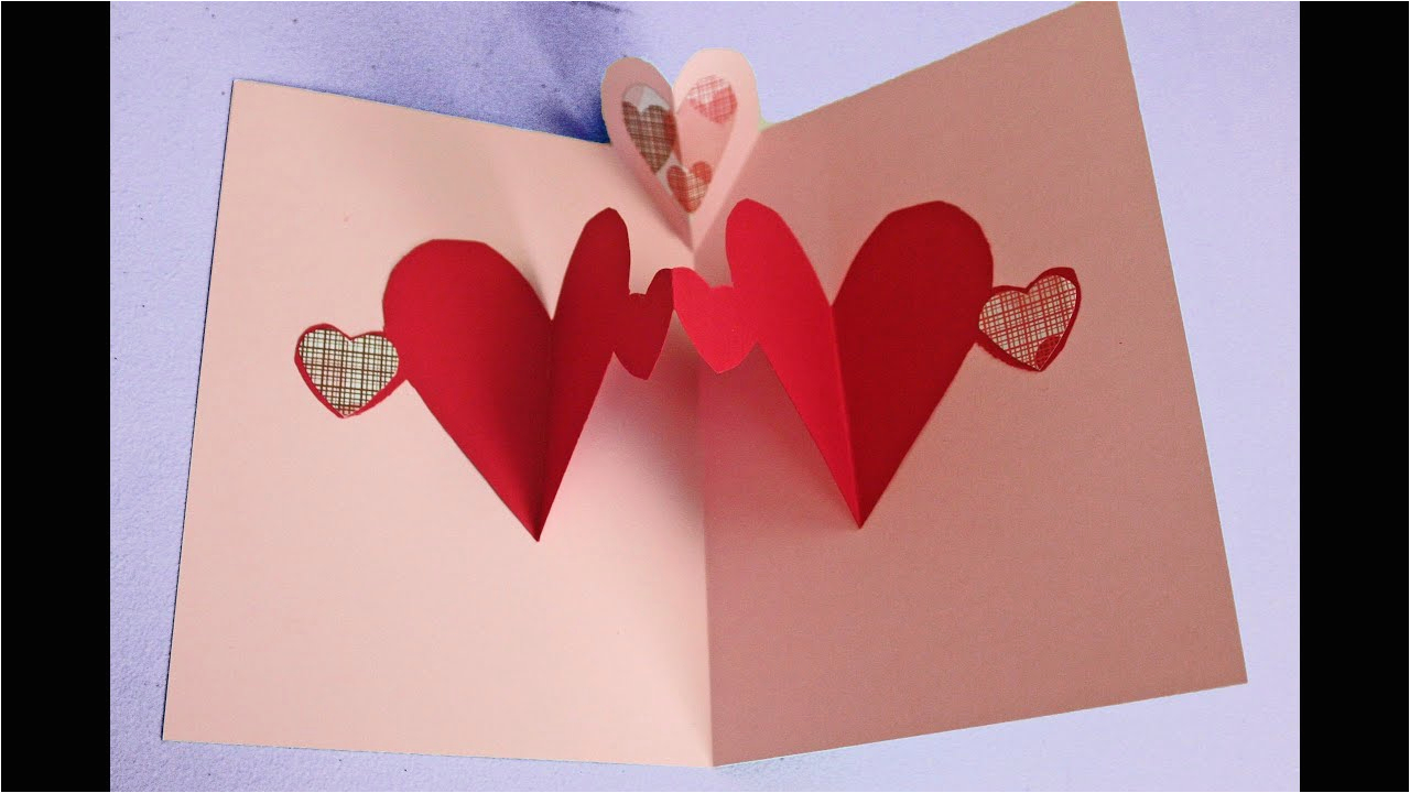 easy pop up heart card making tutorial to make with kids