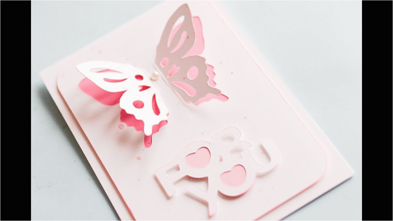 how to make greeting card with butterfly step by step