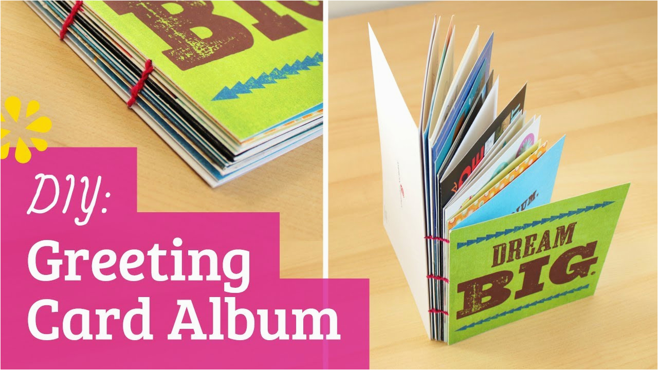 How To Make A Birthday Card With Photo Greeting Album Youtube