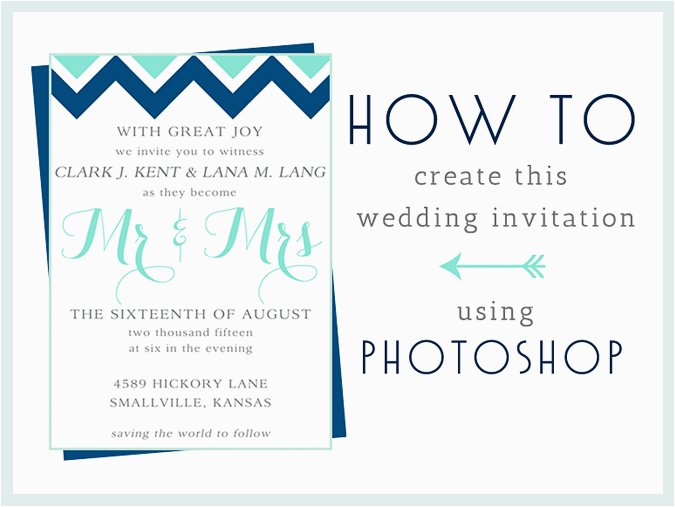 How to Make A Birthday Invitation In Photoshop How to Make This Wedding Invitation In Photoshop