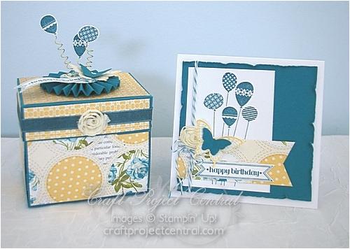 birthday explosion box greeting card